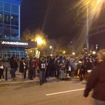 #atlferguson protesters are on marietta st now heading toward CNN center. #shutitdownatl http://t.co/hcMnCqwntN