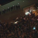 Watch live: Ferguson protesters in downtown LA have reached LAPD headquarters http://t.co/5lQe9Nrxc8 http://t.co/EcKFwlbFvy