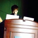 [PIC] 141127 Xiumin giving his university presentation on Musical Practical Utilization Programs [cr. suxichan] http://t.co/p7g6CTC0l0