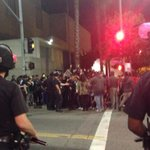 Police are closing in on protesters #LA #mikebrownprotest http://t.co/JJqL33JV1W