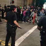 The scene at Temple and Broadway. #FergusonVerdict #DTLA http://t.co/qmbXExQEsY