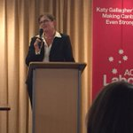 Sen Kate Lundy talks to branch members about her decision not to contest the next election http://t.co/6qLomZ0jB5