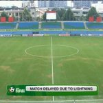 Due to lightning in the area, & for player safety, the #AFFSuzukiCup match between #MALvTHA has been delayed further http://t.co/dqYFIRJJ20