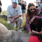 Here in South Africa w/ @world_wildlife collaring a rhino #iam4rhinos http://t.co/1aboQ5FhE5