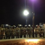 #Ferguson: National Guard now wearing gas masks and carrying riot shields (via @rajiniv) http://t.co/J2TDtMdGUA http://t.co/6SlKDqAJaZ