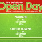 Kericho! Come meet us at the Uhuru Gardens for the #SafaricomOpenDay and get discounts on smart phones! 27-29 Nov http://t.co/lZNvMnanpk