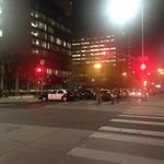 LAPD has Second street blocked by numerous police cars at Spring street. #DTLA http://t.co/yMvlAlYqPm