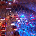 Here is a look at Downtown Connector #ShutItDownATL blocked traffic for a minute. @cbs46 #FergusonProtest http://t.co/T0bU6JlYLK