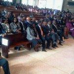 Requiem mass service for the late Homabay Senator Hon Otieno Kajwang at the Maxwel SDA Church. http://t.co/frNVXZDc7k