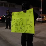 Few mentions of Ezell Ford tonite at #DTLA #Ferguson protests. He was shot, killed by police in #SouthLA last Aug. http://t.co/9NMdbIH8fj