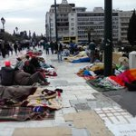 #syrianrefugeesgr are for 8 days in #Syntagma. 3 days on #hugerstrike. NO SOLUTION YET! https://t.co/rXuAhahZRY #revoltgr v @Mavroskoufitsa