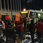 Protesters on #Metro train tracks at Flower/12th. #dtla @KNX1070 http://t.co/BbdYVzVyaF