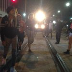 Protesters block the train in downtown LA. #MichaelBrown #Ferguson verdict day 2. http://t.co/X69TpVNNhe