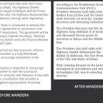 UHURUs change of UAE trip. What he said before and after MANDERA happened via @gitweeta http://t.co/7VcUW4P86l