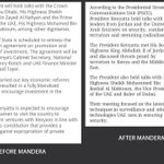 Whos fooling who @UKenyatta? Your official statement on your trip to UAE before and after Mandera. Wacha kutupaint! http://t.co/v938Cv3jTF