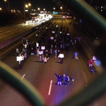 Cincinnati, Ohio protestors shut down highway by kneeling in street with hands up. #Ferguson #FergusonDecision http://t.co/DVNnVZR4Hw