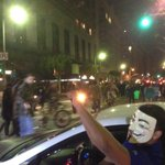 I guess some motorists drive with the #anonymous mask. #MichaelBrown protests in downtown LA, day 2. http://t.co/uo1teQTu0W