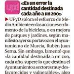 «Es un error la cantidad destinada cada año al zoo» @rubenjuans @UPyD hoy en @diariolaopinion #Murcia http://t.co/d0JxJ77Hka