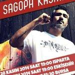 SagopaKajmer Türkiye Turu tüm hızıyla devam ediyor! Bu Hafta Isparta, Eskişehir, Bursa Bilgi: http://t.co/NNdc99u6aL http://t.co/rLds6mcywM
