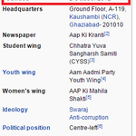 Wow @AamAadmiParty @ankitlal @ArvindKejriwal edited the wiki? Crossing all limits of cheapness! #ShameOnKejri http://t.co/HijrWXDfws