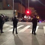 Heres a shot of the scene at Temple and Broadway in #DTLA #FergusonVerdict http://t.co/EWwPQLbr3B
