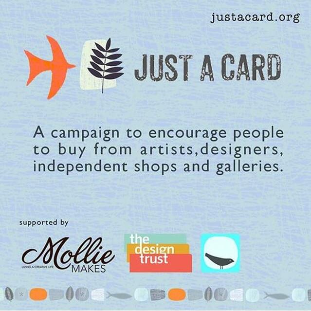 Support designer makers, even if it's #justacard! Use the hashtag to show us, & tag designers so we spread the love. http://t.co/Ne2QSWeJHk