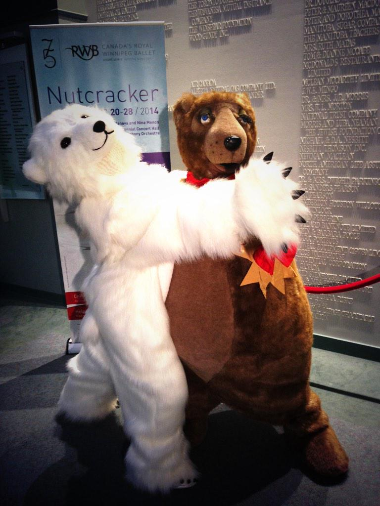 RT @krocznik: Hazel the Polar Bear showing Filbert the Bear some moves! See Hazel make her @RWBallet debut in The Nutcracker! http://t.co/C…