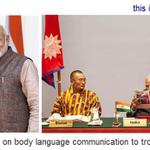 Modis message to Sharif at SAARC via sheer body language communication. Pakistan should mend its way or else... http://t.co/SOwjTvmXCJ