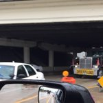 UPDATE: DOT headed to I-275 overpass on SB Dale Mabry to check on the damaged overpass #traffic http://t.co/qcUZUK4Xjp