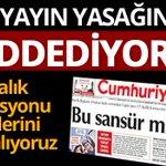 REDDEDİYORUZ... Cumhuriyet 17 Aralık yayın yasağı kararına uymuyor http://t.co/vQB0NyiLdx http://t.co/r4jHQw63b7