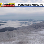 From NPS and Smoky Mtn. National Park. Fresh #snow & clouds in the valley below. #ncwx http://t.co/L9ST2hYaR4