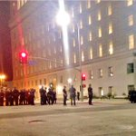 Police make as many as 113 arrests in DTLA after protestors get out of control Watch @ABC7 at 6:30am #MichaelBrown http://t.co/TOYKzYDqss