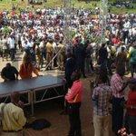 The Setup At Uhuru Park #RIPKajwang More Photos: http://t.co/rL1pgNa1Az http://t.co/F22vZEZw8c