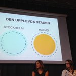 Malmö upplever sig som mindre än staden Malmö. Stockholm som större än staden Stockholm. Mindset!! #framtidensskåne http://t.co/kFlx7Wuj3c