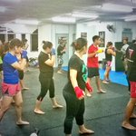 Muay Thai class in full swing with Resident Coach Kru Sa who is joining us from Tiger Muay Thai Thailand! @KKCity http://t.co/Zp8Z2pcPp2