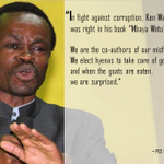"""""""On corruption, Walibora was right in his book Mbaya Wetu; we are the co-authors of our misfortune"""" ~ PLO Lumumba http://t.co/jIlManJZF7"""