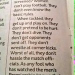Why women cant play football....https://t.co/oopcNKMSSS #sexism