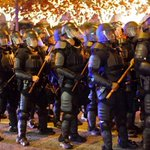 Just imagine this set to Star Wars Imperial March. Truth is stranger than fiction here: #Ferguson protest in #Atlanta http://t.co/AzrACxPjMe