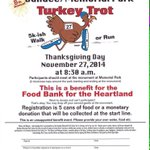 8th Annual Dundee Memorial Park #TurkeyTrot2014! November 27, 8:30am. Registration 5 cans of food or donation. http://t.co/IIxbJ72L1G