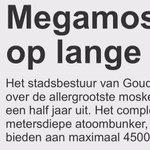 Geweldig nieuws. En van uitstel komt afstel. Nu de rest nog. Hoe minder moskeeën in Nederland hoe beter! http://t.co/xxBJUiFIT1