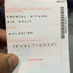 Terjumpa keratan ni kat luar stadium. Tak pasal2 ada yg tak lepas balik Malaysia karang. @ultrasmalaya07 RT. http://t.co/RxO1dBiFeZ