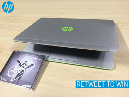 Follow & RT to win an HP Stream 14 laptop & @ProfessorGreen signed album. Watch him LIVE tonight from 9PM. http://t.co/JWu3ql2Aaq