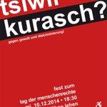 tag der #menschenrechte - fest in der tribüne lehen am 10.12. #salzburg http://t.co/NEDv600xcT
