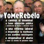 #YoMeRebelo contra estos personajes @MarianaLaActriz @anatijoux @ferurre @joevasconcellos @KarendTV @thecliniccl http://t.co/vL20UMHkPN