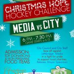 Looking forward to the 1st Annual Christmas Hope Hockey Challenge in #yql @lethfoodbank @IFBLethbridge @salvationarmy http://t.co/atBbA1WRWh
