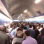 Ahora 8:58hrs Asi esta la estación metro Tobalaba cc @biobio @CNNChile @tv_mauricio @24HorasTVN @latercera http://t.co/QENn3PbYL4