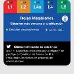 Supuestamente ya se está normalizando... Pero sigue suspendida línea expresa @metrodesantiago #L4 http://t.co/g2f7WoEJP2