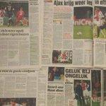'#Ajax krijgt les in effectiviteit.' Hier het krantenoverzicht van PSG - #Ajax: http://t.co/uYsTpQba7l #UCL #psgaja