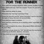 Know the ten universal commandments of running. Tell us your running commandments.