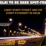 """.@ArvindKejriwal: """"Delhi to be dark spot free.Every street will be lit. Every pavement will be fixed."""" #WomenDialogue http://t.co/mAtJ7Ngwvp"""